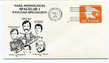 1978 SPACELAB 1 Payload Specialists Marshall Space Flight Center NASA USA Sat