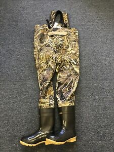 New Cabela's Men's Breathable Dry Plus Chest Wader Max-5 Camo Size 13 Reg 600g