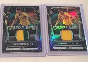 Lot (2x) 2020-21 Obsidian Soccer OSCAR Galaxy Gear Patch # /25 Jersey /149