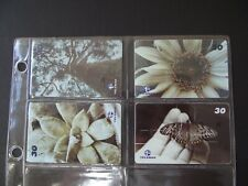GARDENS 2001 Set of 4 Different Phone Cards from Brazil