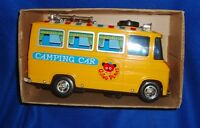 Yonezawa Plastic & Tin Battery Operated Melody Camping Car Japan with Box
