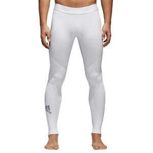 NWT MENS ADIDAS CD7195  Alphaskin Sport Long Base Layer White Tights  $45