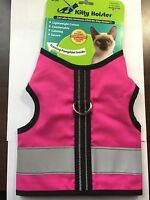 Kitty Holster Cat Reflective Safety Harness or Leash Flamingo Pink Choose Size