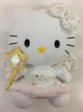 Gorgeously Cute Hello Kitty Gold Angel Plush With Wand By Ty Beanie Toys