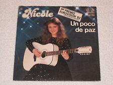 """NICOLE CHANTE EN ESPAGNOL EUROVISION 1982 ALLEMAGNE UN POCO DE PAZ ORIGINAL 7"""""""