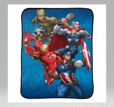 """Marvel Avengers 46""""x60"""" Throw Blanket Blue"""