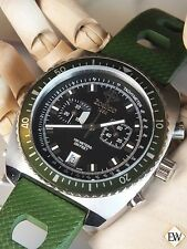 Vintage Diver Style ZODIAC SEA DRAGON Chronograph Green Hulk WATCH ZO2228