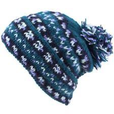 Bonnets bleus pour femme en 100% laine