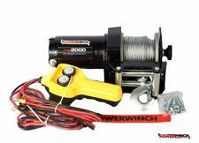 Elektrische Seilwinde PowerWinch 2000 907 kg Kabelfernbedienung 12V Winde NEU