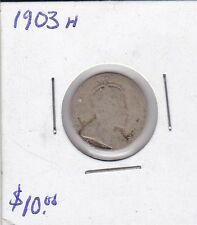 1903H Canada 10 Cent silver coin
