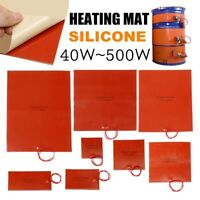 40-500W 100-400mm 110V Heated Bed Heater Pad Silicone Heating Mat For 3D Printer