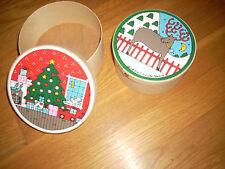 "Reduced ~ Lillian Vernon Vintage Nest Box 4 5 Or 6"" Christmas Decor"