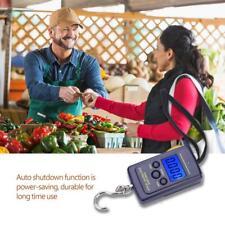 Noir 10g-40kg Digital Balance Peson Pèse Electronique Crochet Pêche Bonne Qualit