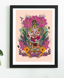 Indian God Ganesha Hindu Godess India Yoga Ganesh Art Print By Msdre