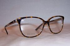 new gucci eyeglasses gg 3701 4wj havana gold 54mm rx authentic