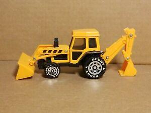 "Buddy L 7"" Backhoe Front Loader Excavator Tractor Construction Toy Plastic"