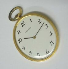 Dial Pocket Watch 20th Century Modern 14kt Gold Movado Arabic Numeral Oval