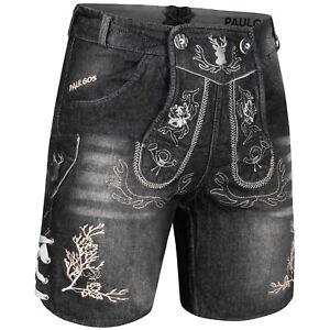 PAULGOS Herren Trachten Jeans, Kurz in 2 Farben Gr. 44-60 JEK3