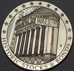 Huge Wall Street Silver Plated 50mm Proof Medallion~Standard Oil~Rockefeller~FS
