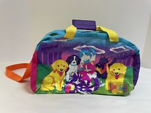 Rare Vintage Lisa Frank Bag Puppies Kittens Duffle 90s Kitty Cats Dogs-rips/Hole