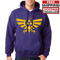 LEGEND of ZELDA HOODIE PURPLE Triforce Logo Hoodie Link Hooded Sweatshirt Symbol