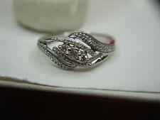 JWBR STERLING SILVER & DIAMOND RING - 1/5 CTW - STYLISH!