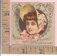 ALLENS ROOT BEER EXTRACT FOR MAKING HOME MADE BEER GIRL BONNET 0844