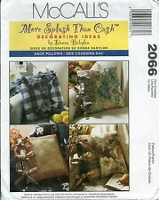 "M 2066 sewing pattern vintage 16""x16"" SACK PILLOWS sew Easy FUN Craft Home Decor"