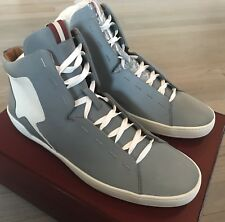 700$ Bally Etius Gray Reflective Nylon High Tops Sneakers size US 10.5