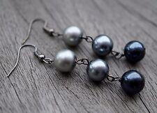Monochrome glass pearl Earrings Bohemian Ethnic Boho Festival Earrings