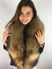 Raccoon Fur Boa Stole 63' Inch. Saga Furs Collar. Viscose Lining
