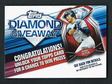 "Derek Jeter 2011 Topps ""Diamond Giveaway Code Cards"" Insert # TDG-7"
