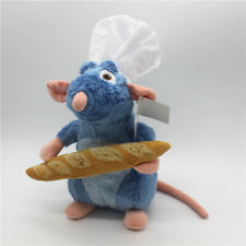 New Disney Ratatouille Remy Rat With  Bread White hat Soft Plush Toy