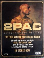 2PAC 2001 original promo ADVERT UNTIL THE END OF TIME death row records