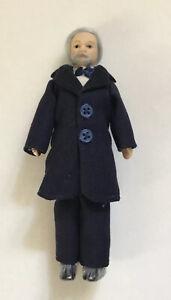 Dolls House Man In Navy Suit - 14.5 cm