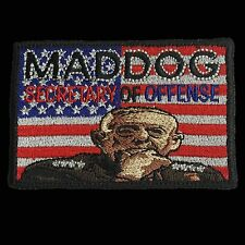 "USMC General ""MADDOG"" Mattis Morale Patch with hook Fastener"