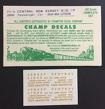 Champ HO Jersey Central Passenger Car Dulux Gold Lettering #PH-6 Original