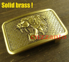 Heavy duty Tiger Solid Brass Classical plate Belt Buckle for 1.5 inch belt Z309