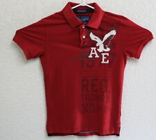 AMERICAN EAGLE OUTFITTERS Men's Red Vintage Fit SS Polo Shirt Size Small EUC