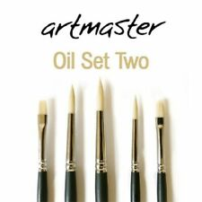 Artmaster Brush Set for Oil and Acrylic Paint Set of 5 Brushes