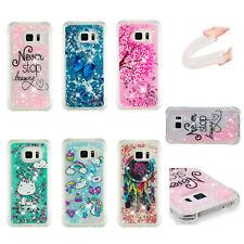 For Samsung S7/S6edge S5 Dynamic Liquid Quicksand Glitter TPU Rubber Case Cover