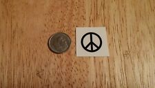 Peace Sign waterslide guitar headstock small decal accent