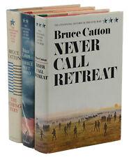 Centennial History Civil War 3 Vols  BRUCE CATTON ~ First Edition ~ 1st Printing