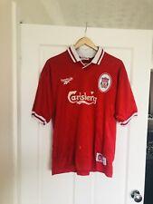 Vintage Liverpool FC Reebok Carlsberg Football Shirt Jersey Adult L 1996/98