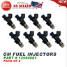 12580681 NEW Fuel Injectors 8PCS SET For GM 2004-2010 Chevy GMC 4.8 5.3 6.0 6.2