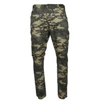 Men's Cargo Camo Pants Multi Pocket Lightweight Cotton Spandex Army Slim Fit