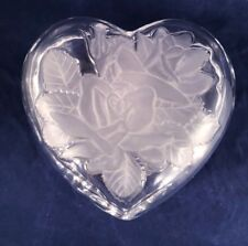 Home Beautiful Rose Pearls Crystal Heart Jewelry Box Candy Dish Mothers Day Gift