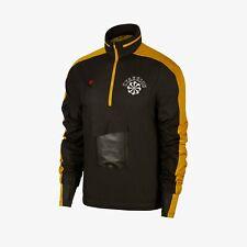 New Nike Gyakusou ½ Zip Hooded Running Team Jacket Pewter Yellow Mens Size: XS