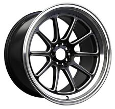 XXR 557 17x8 5x100/114.3 +15 Black/Machine Lip Wheel Fits Civic Veloster Eclipse