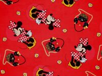FAT QUARTER  DISNEY MINNIE MOUSE PURSES DIAMONDS  SPRINGS CREATIVE COTTON FABRIC